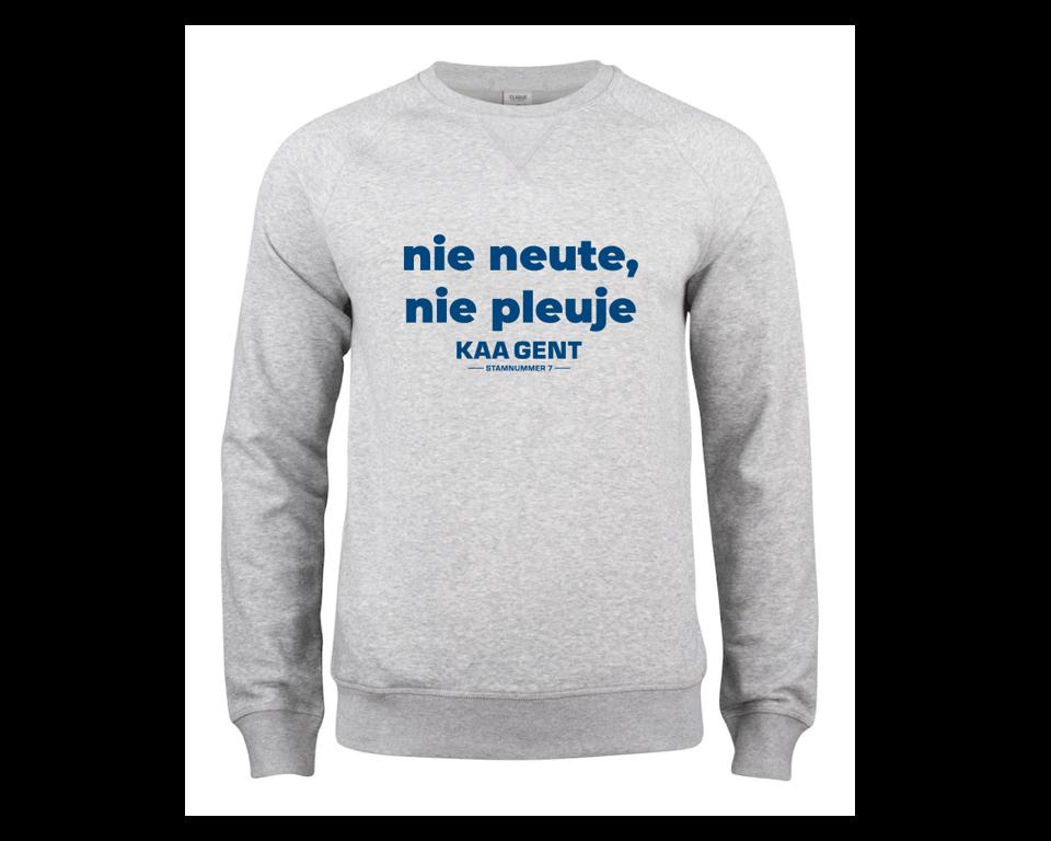 Craft KAA Gent Sweater NIE NEUTE NIE PLEUJE Grijs