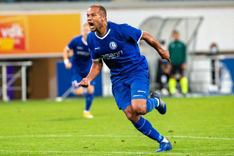Craft JR KAA Gent 21-22 Conference League Shirt Cobalt